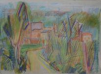 Nachkriegszeit, Landschaft, Nochmal davongekommen, Zeichnungen