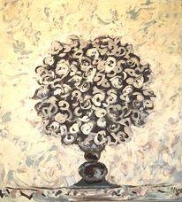 Impressionismus, Gemälde, Blumenstrauß, Französisch