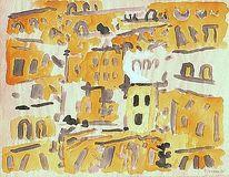 Gelb, Landschaft, Expressionismus, 1957