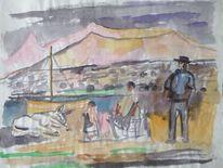 Malerei, Rechts, 1955, Gesicht