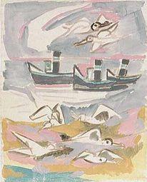 Aquarellmalerei, Entartete kunst, Expressionismus, Mutter ey
