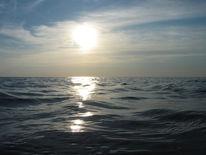 Sonnenuntergang, Welle, Meer, Sommer
