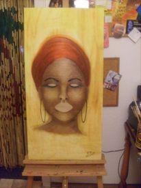 Frau, Afrika, Malerei, Menschen