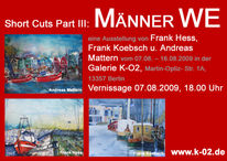 Vernissage, Warnemünde, Ostsee, Aquarellmalerei
