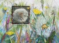 Blüte, Blumen, Fotografie, Aquarellmalerei