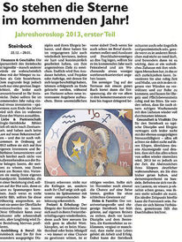 Aquarellmalerei, Jahreshoroskop, Steinbock, Sternzeichen