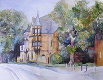 Bad doberan, Möckel, Aquarellmalerei, Möckelhaus