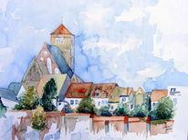 Rostock, Kirche, Stadtmauer, Altstadt