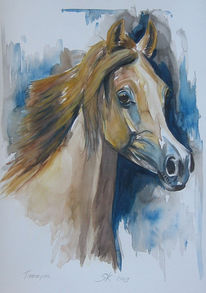 Aquarell, Araber