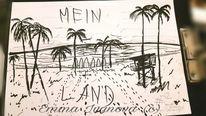 Rammstein, Strand, Tuschmalerei, Skizze