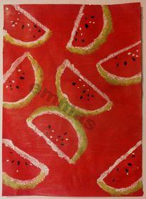 Hintergtund, Rot, Wassermelonen, Wasser