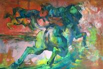 Pferde, Karussell, Malerei, Tiere