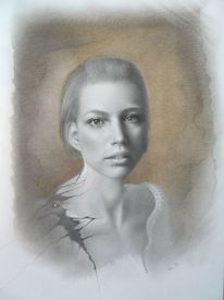 Portrait, Zeichnung, Porträtmalerei, Portraitzeichnung