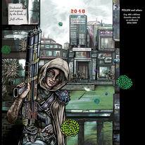 Cyberart, Graphicdesign, Hamburgillustrator, Gouachemalerei