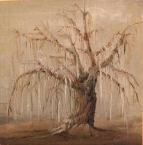 Ölmalerei, Baum, Kalt, Wald