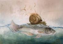 Fisch, Surreal, Fantasie, Baum