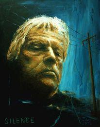 Portrait, Mast, Acrylmalerei, Nacht