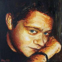 Acrylmalerei, Portrait, Malerei,