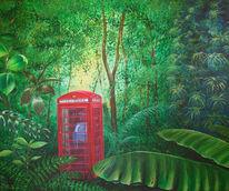 Surreal, Malerei, Telefon, Regenwald