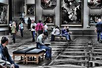 Louvre, Menschen, Paris, Fotografie