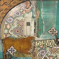 Istanbul, Deckblatt, Collagieren, Orient und okzident