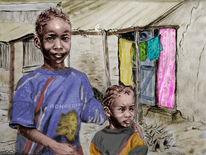 Zeichnungen, Zeichnung, Afrika, Armut