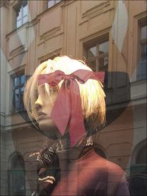 Mädchen, Portrait, Schaufenster, Fotografie