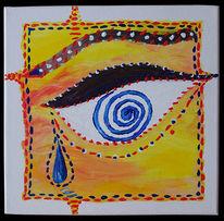 Augen, Abstrakt, Afrika, Aquarellmalerei