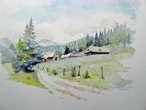 Steiermark, Aquarellmalerei, Landschaft, Aquarell