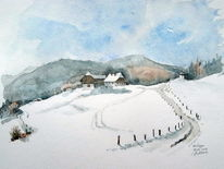Plein air, Lachtal, Winter, Schnee