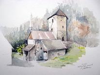 Gotisch, Steiermark, Morgen, Burg