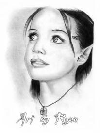 Elfen, Zeichnungen, Portrait,