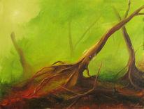 Holz, Waldoktopode, Tintenfisch, Kleiner blauer vogel