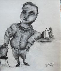 Zeichnungen, Bleistifte, Namen, Bar