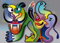 Raubtier, Gruppe, Tiere, Farben