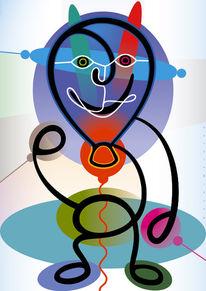 Grafik, Ballon, Luft, Farben