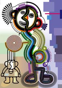Kunstdruck, Symbolik, Farben, Vektor