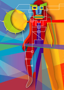 Figurativ, Vektorgrafik, Kreatur, Farben