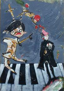Malerei, Figural, Tod, Spiel