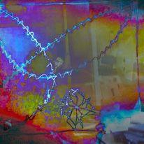 Sterngebilde, Gestalt, Leuchtschlinge, Digitale kunst