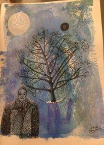 Menschen, Schwarze sonne, Baum, Schatten