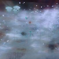 Aufflackernde farben, Lampe, Wirbelnde sternwesen, Nebel