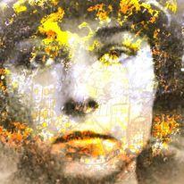 Zeichen, Gesicht, Leuchten, Digitale kunst