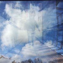 Wolkenweg, Gestalt, Tür, Digitale kunst