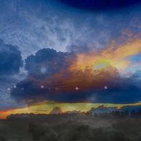 Ufo, Himmel, Licht, Wolken