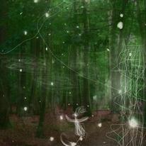 Zwischenwelten, Geistchen, Licht, Mischtechnik