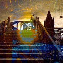 Himmel, Brücke, Engel, Treppe