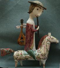 Musiker, Yalonetski, Keramik, Skulptur