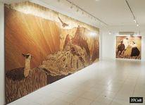 Intarsienbilder, Holzwandbild, Alpaka, Machu picchu
