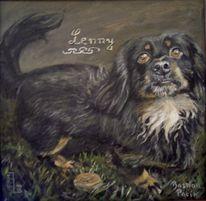 Tierportrait, Hund, Hundeportrait, Malerei
